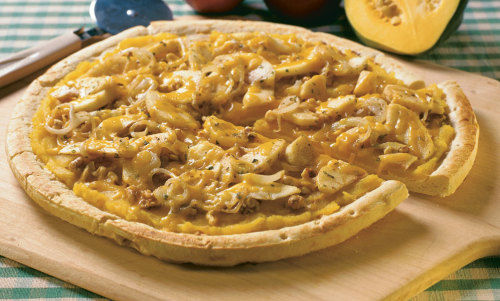 Squash, Apple, and Onion Pizza