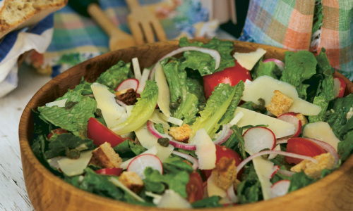 Garden Chef's Salad with Creamy Caper Dressing