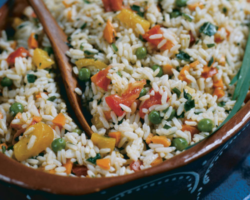Garlic Chive and Rice Salad