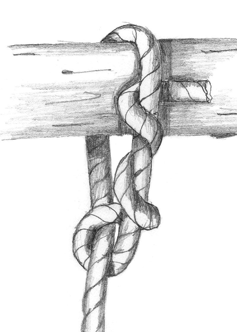 Timber hitch step 1
