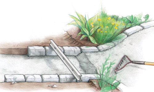 Build A Stone Edged Gravel Path Finegardening