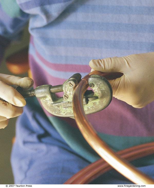 Build A Copper Pipe Trellis - FineGardening