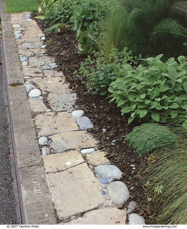 Flat Stone Edging: Create A Pebble Mosaic