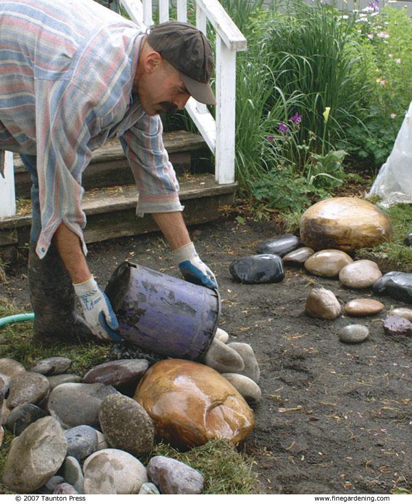 Making A Wonderful Garden Path Ideas Using Stones: Create A Pebble Mosaic