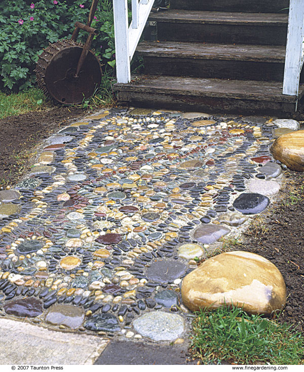 Making A Wonderful Garden Path Ideas Using Stones: Create A Pebble Mosaic
