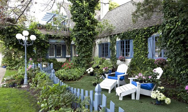 backyard of a cottage