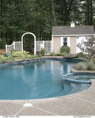 ideas for sloped backyards, ideas for sloping backyards, ideas for muddy backyards, on ideas for wooded backyards pools