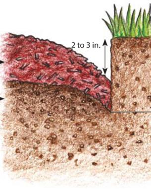 Mulch the bed diagram