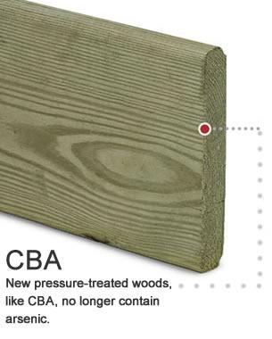 CBA New pressure-treated woods