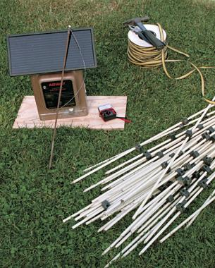 Materials for a Simple Electric Fence